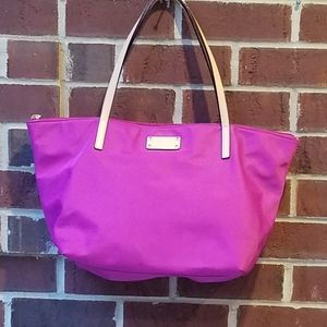 Kate spade pink tote bag with leather handles